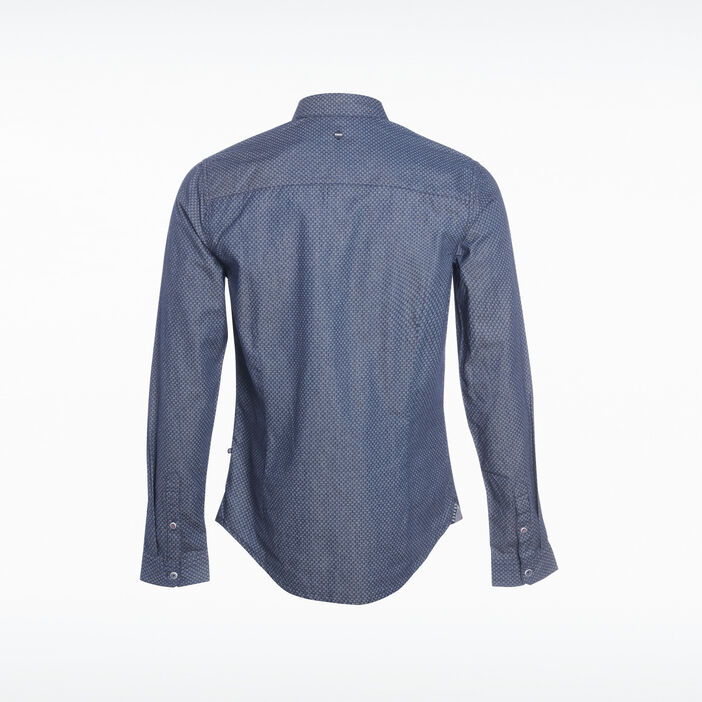 Chemise manches longues denim stone homme