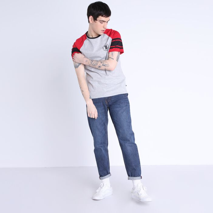 Jeans chino 7/8 à revers denim stone homme