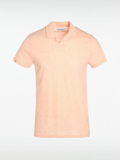 Polo basic rose saumon homme