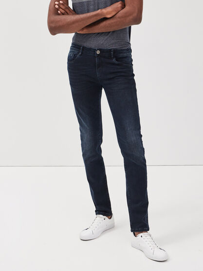 Jeans slim ultra stretch denim blue black homme