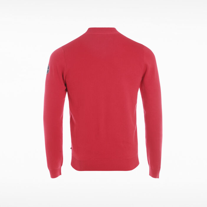 Pull manches longues rouge homme