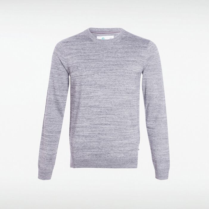 Pull col rond homme maille Instinct GRIS CLAIR