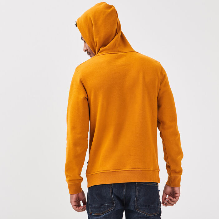 Sweat manches longues jaune moutarde homme