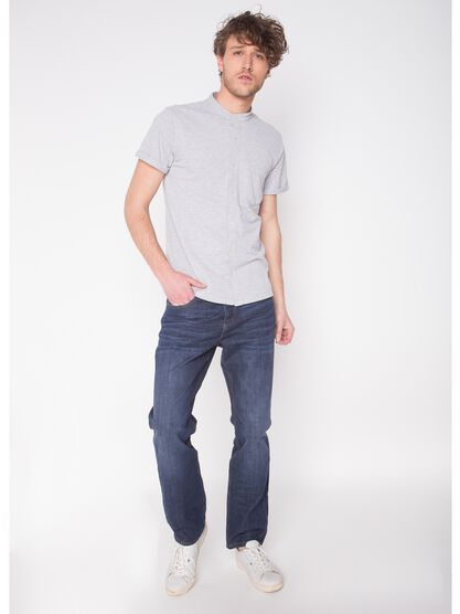 jeans homme straight l32 recycle denim brut