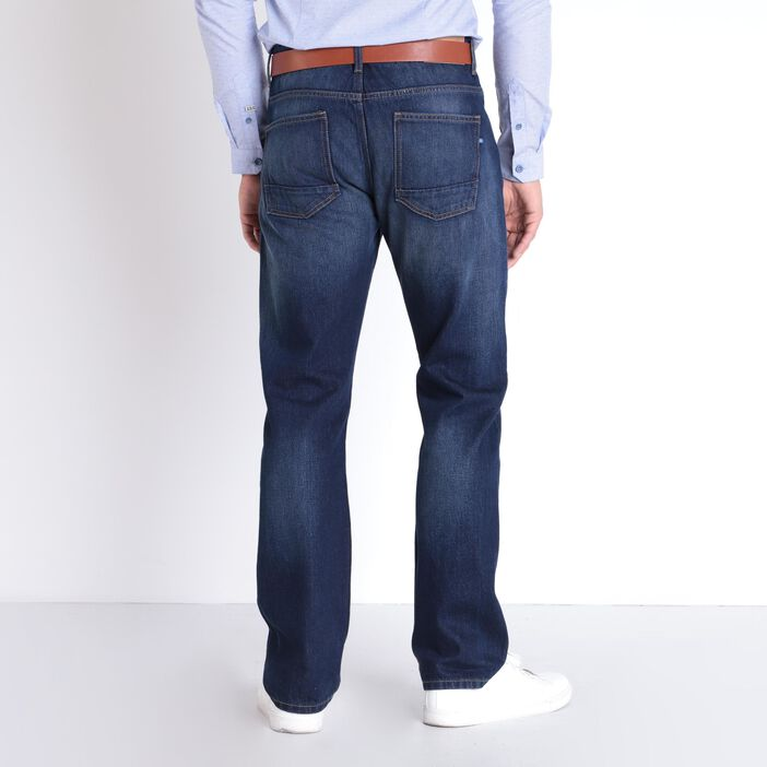 Jean regular coton bio denim brut homme
