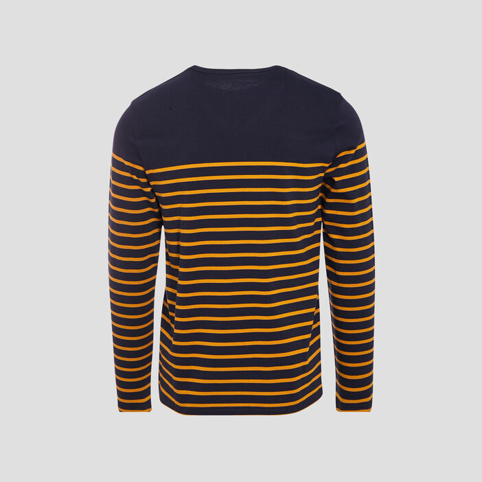 T-shirt manches longues jaune moutarde homme