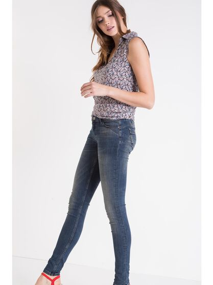 jeans skinny femme push up denim dirty