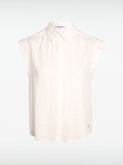 chemise broderie blanc