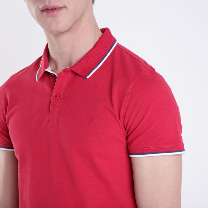 Polo manches courtes Instinct rouge homme