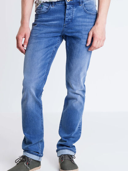 Jeans regular used L34 Instinct denim stone homme
