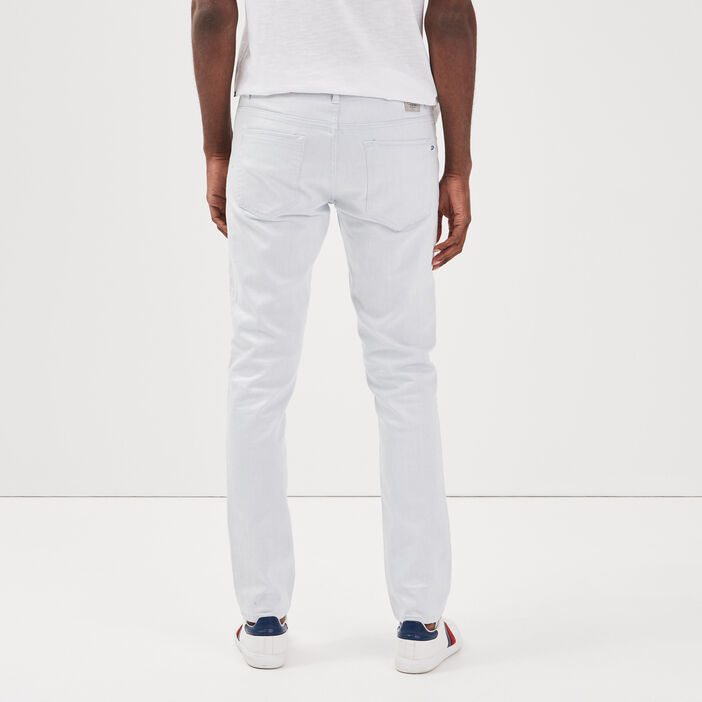 Jeans slim taille standard blanc homme