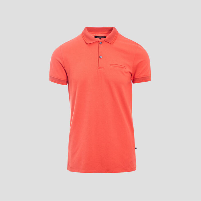 Polo manches courtes rouge homme