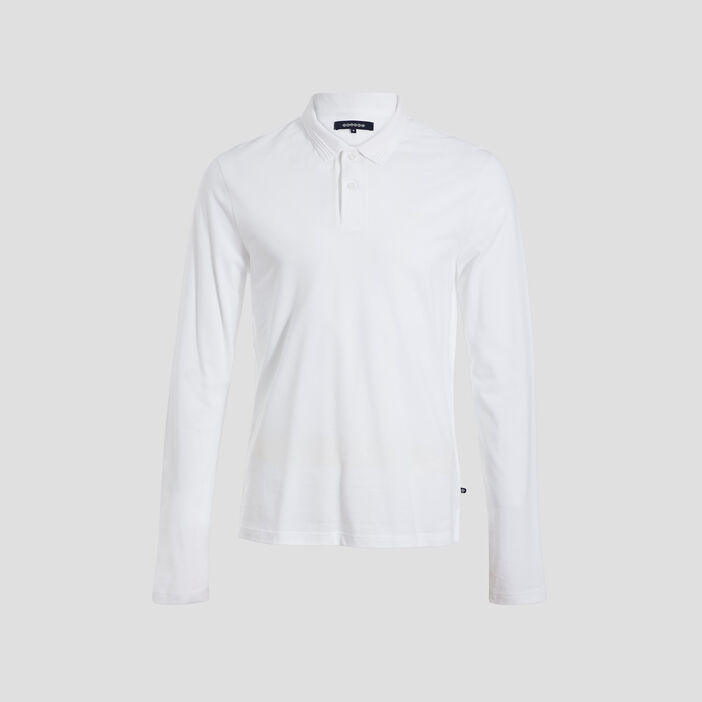 Polo manches longues beige homme