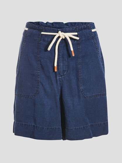Short ample eco responsable denim stone femme