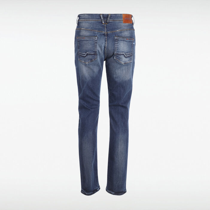 Jeans bootcut 5 poches used denim stone homme