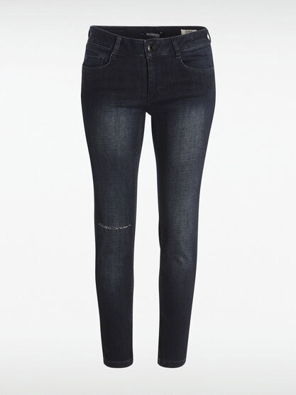 Jeans slim push up used denim brut femme