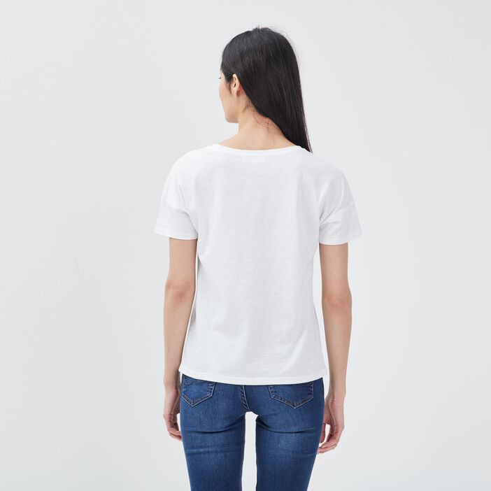 T-shirt all you need is me ecru femme