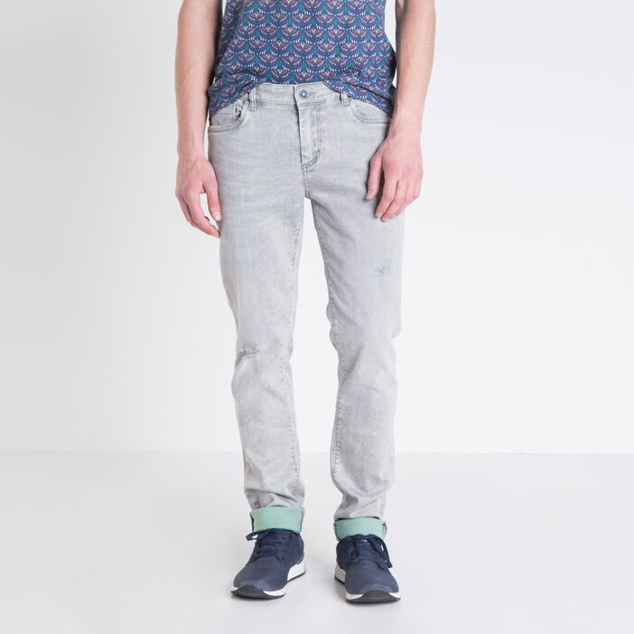 Jeans slim homme DENIM GRIS
