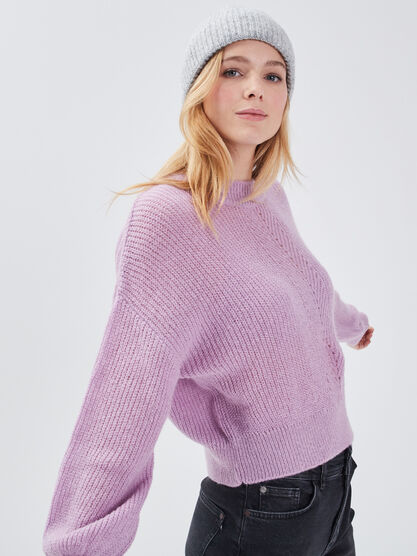 Pull manches longues parme femme