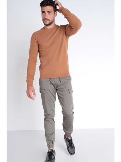 Pull Instinct manches longues camel homme
