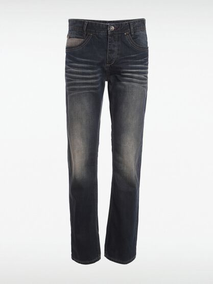 jeans regular homme effet bleached denim dirty