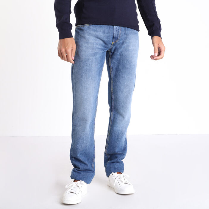 Jeans straight used denim used homme