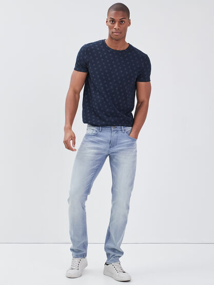 Jeans slim delave denim bleach homme