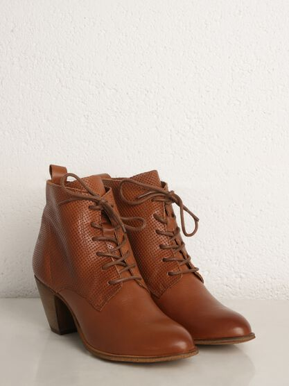 bottines talons marron cognac