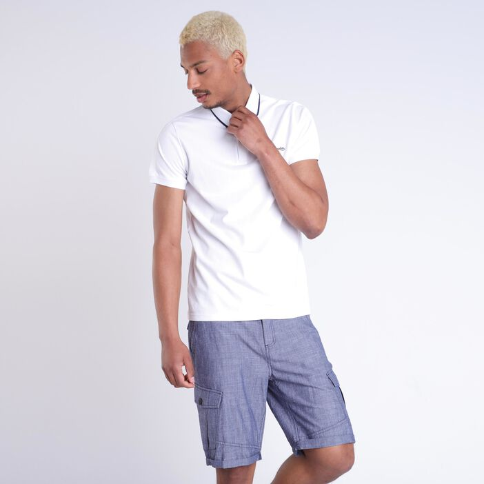 Polo Instinct manches courtes blanc homme