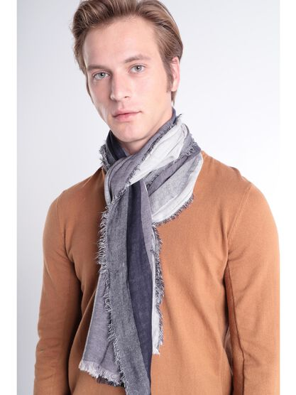 Foulard maille multicolore gris fonce homme