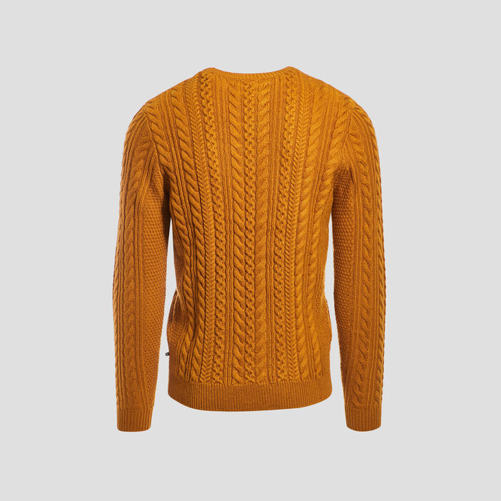 Pull manches longues jaune moutarde homme