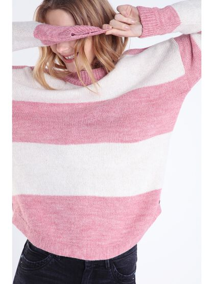 pull manches longues rose clair