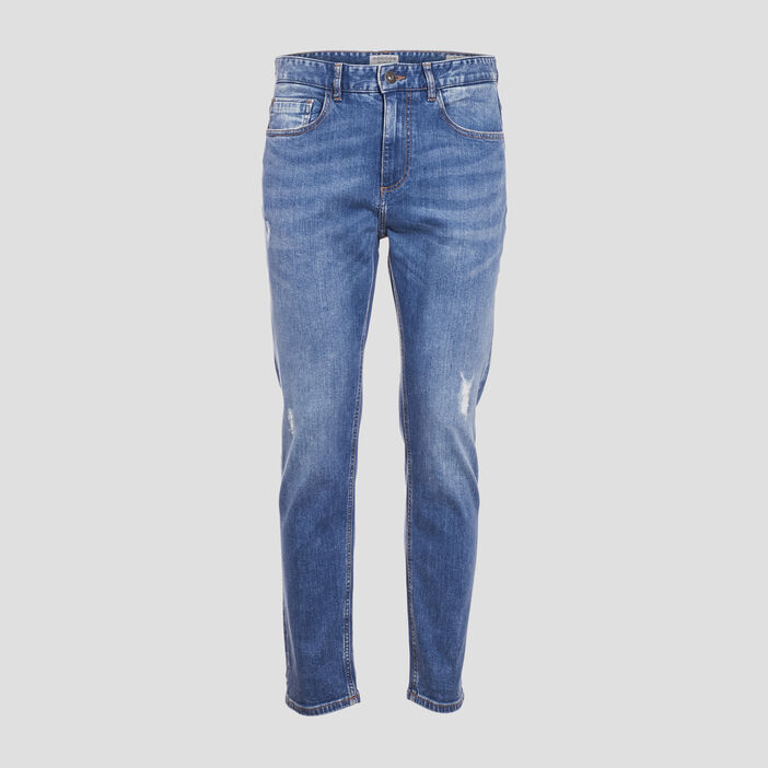 Jeans tapered éco-responsable denim used homme