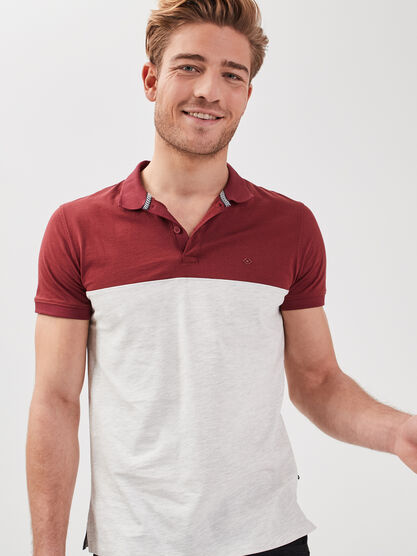 Polo eco responsable bordeaux homme