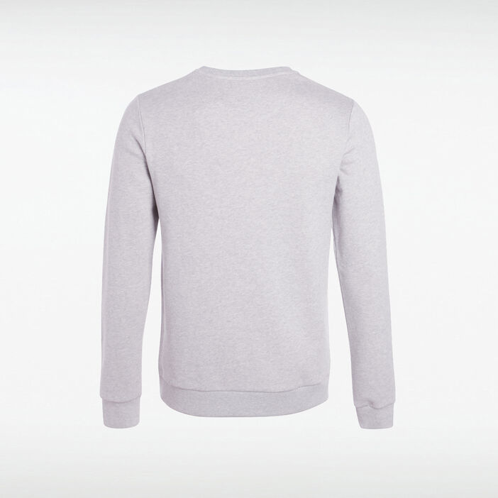 Sweat à message col rond Instinct gris clair homme