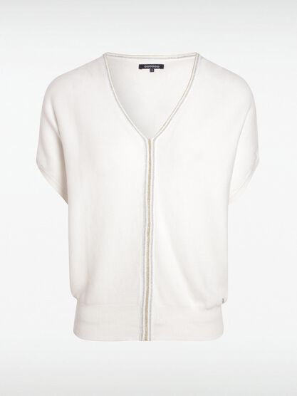 pull manches courtes blanc
