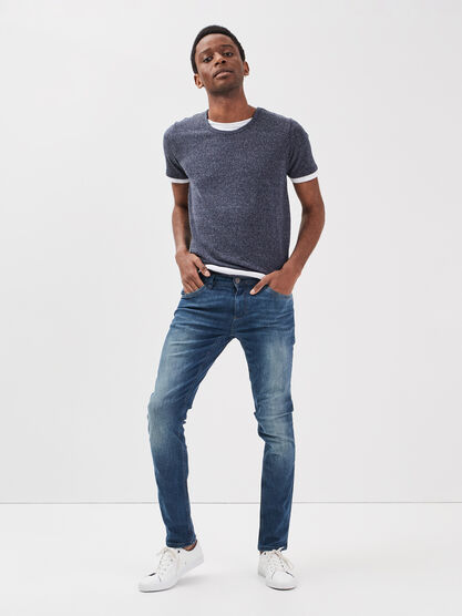 Jeans slim denim dirty homme