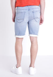 Bermuda denim bleach homme