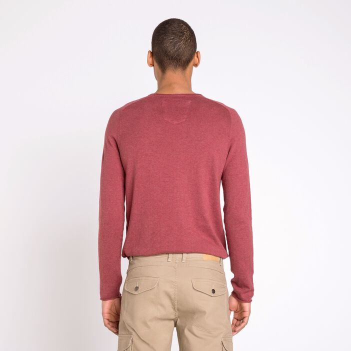 Pull col rond homme Instinct VIEUX ROSE