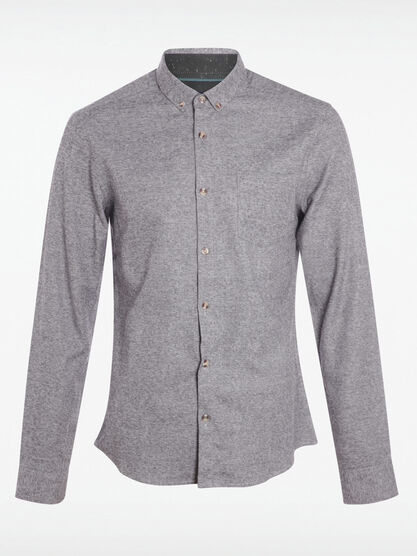 Chemise col boutonne gris homme