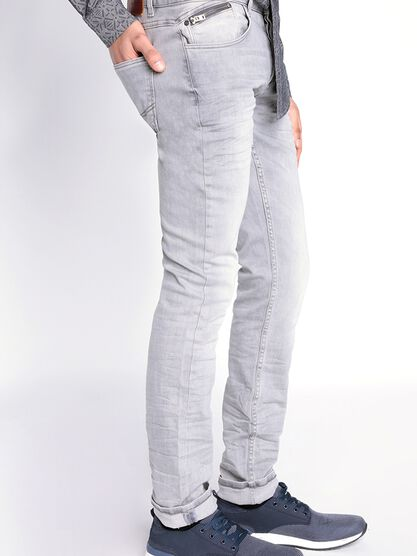 jeans homme slim denim gris