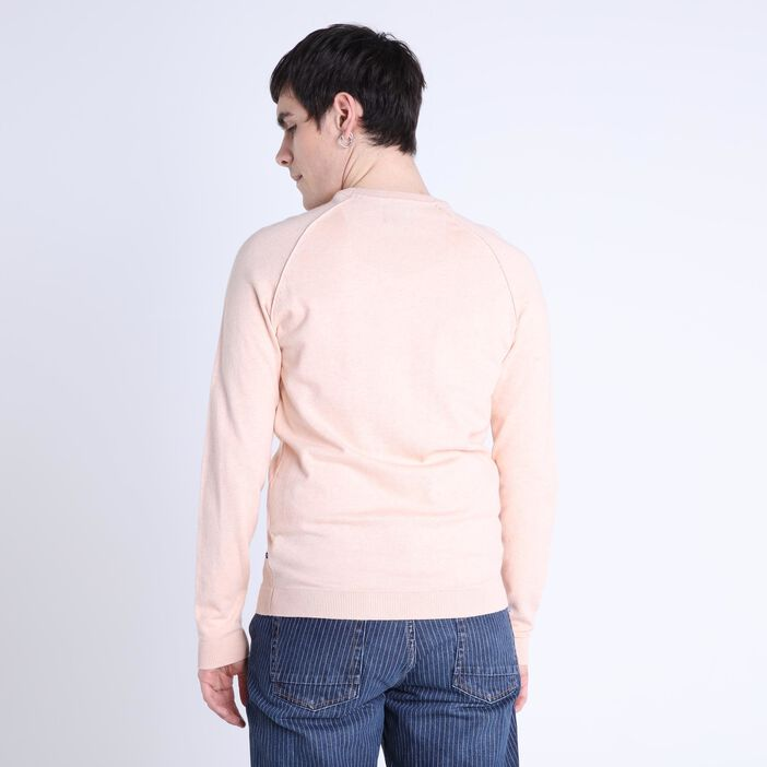 Pull manches longues Instinct rose clair homme