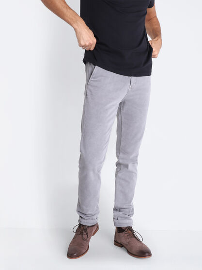Pantalon chino ultra stretch gris fonce homme