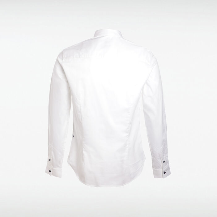 Chemise bandes blanc homme