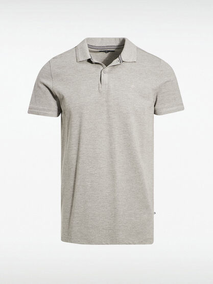 Polo eco responsable gris fonce homme