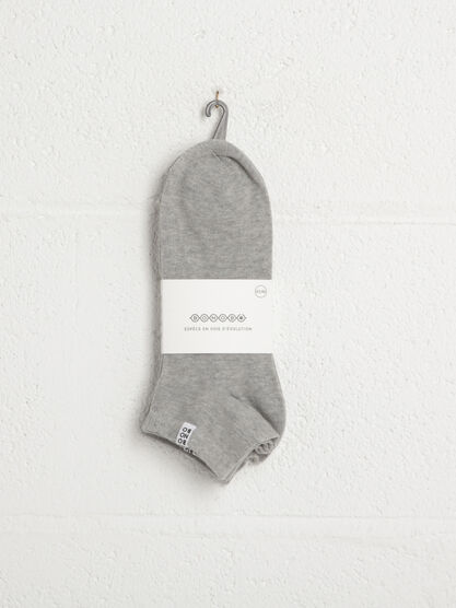 Pack 3 chaussettes gris homme