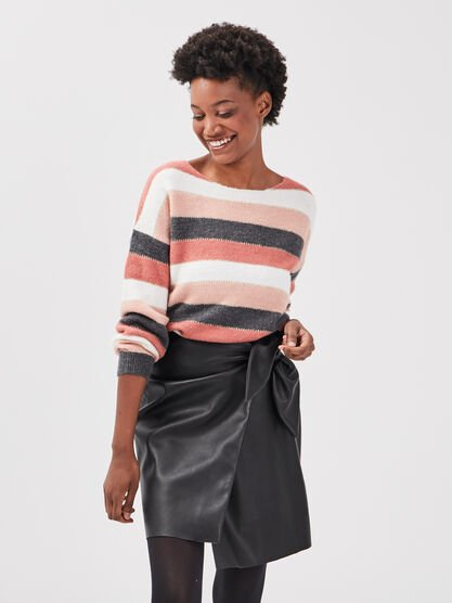 Pull eco responsable vieux rose femme