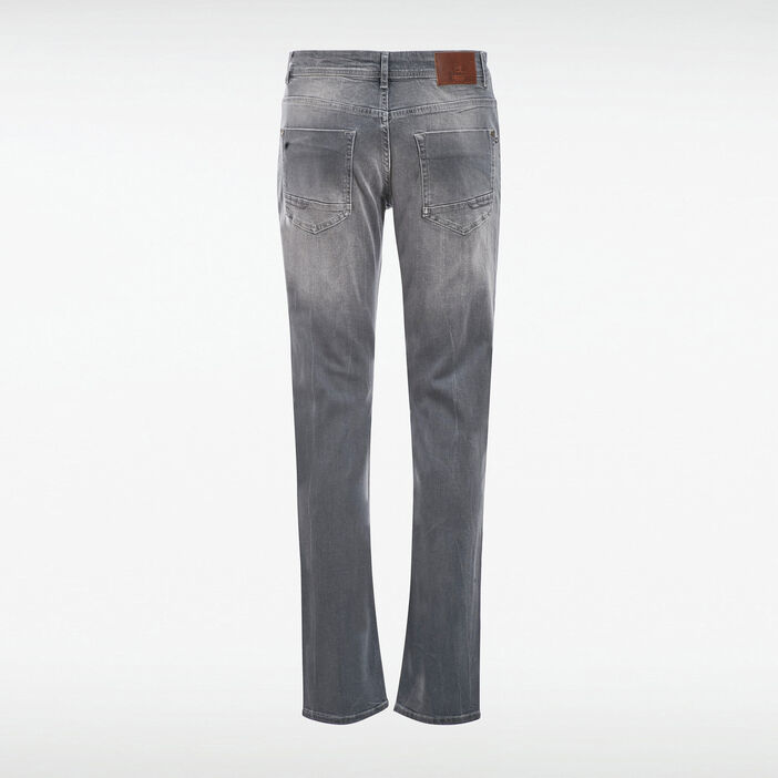 Jeans straight denim gris homme