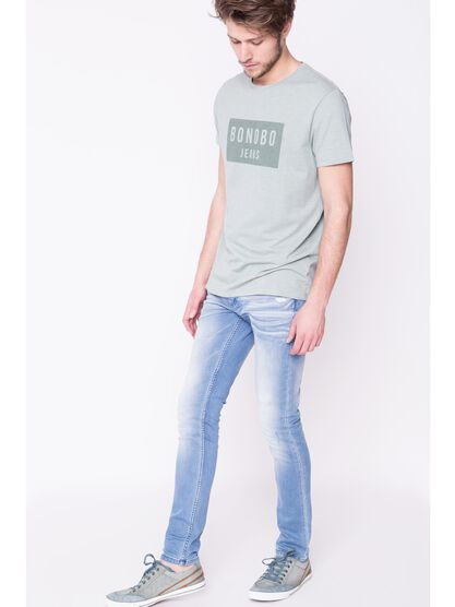 jeans homme skinny used denim bleach