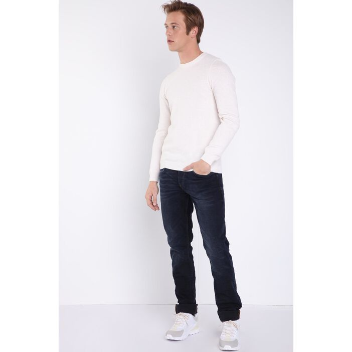 Jeans bootcut 5 poches used DENIM NOIR